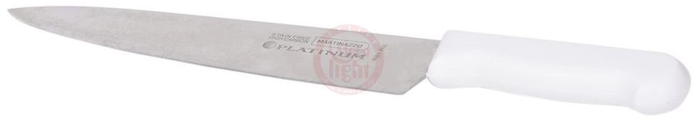 "Martinazzo Meat Knife White Plastic Handle 10"" 71510/06"