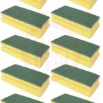Cleaning Sponge With Scrubber 10 Pcs Z2 70744