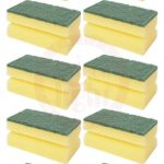 Cleaning Sponge With Scrubber 10 Pcs 70802