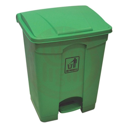 GARBAGE CAN WITH CENTER PEDAL 45L GREEN 55331G
